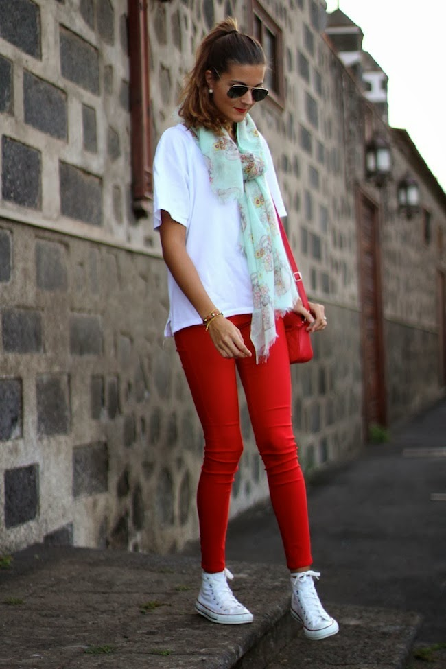 Marilyns Closet FASHION BLOG Red And Converse