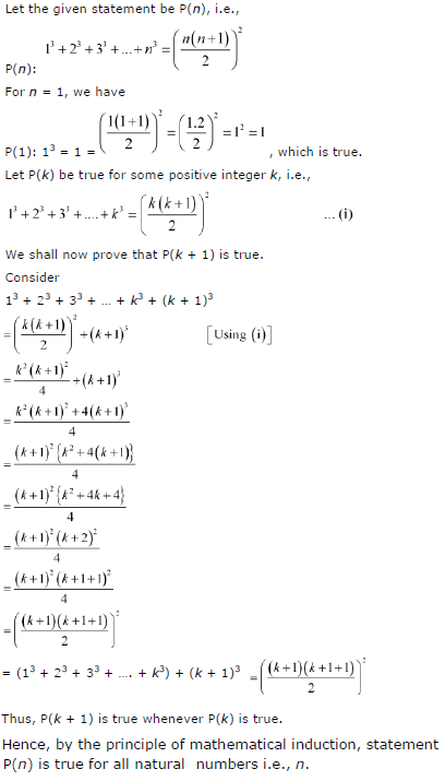 13 + 23 + 33 + … +n3 = {(n(n+1)/2}2