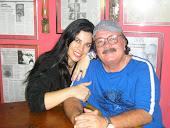 Meu amigo poeta e escritor Saulo Mendonça e sobrinha Aline Neyman atriz e empresária.