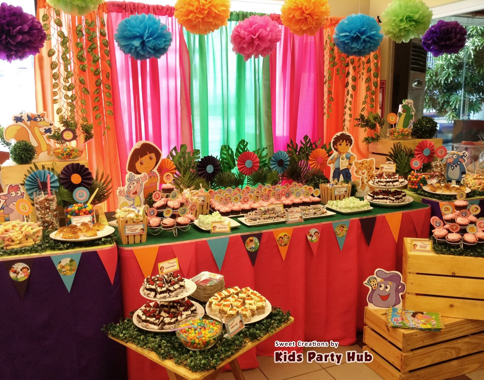 Dora explorer birthday party ideas home decor ideas for Home decorations for birthday
