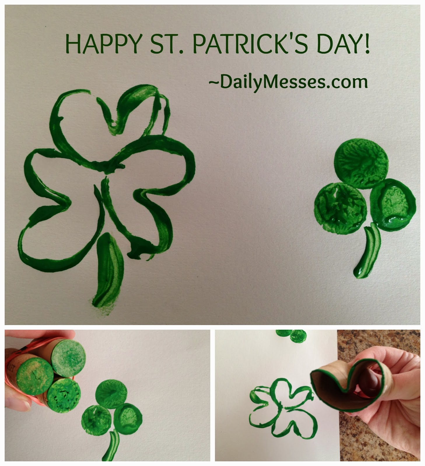 daily messes easy shamrock stamps