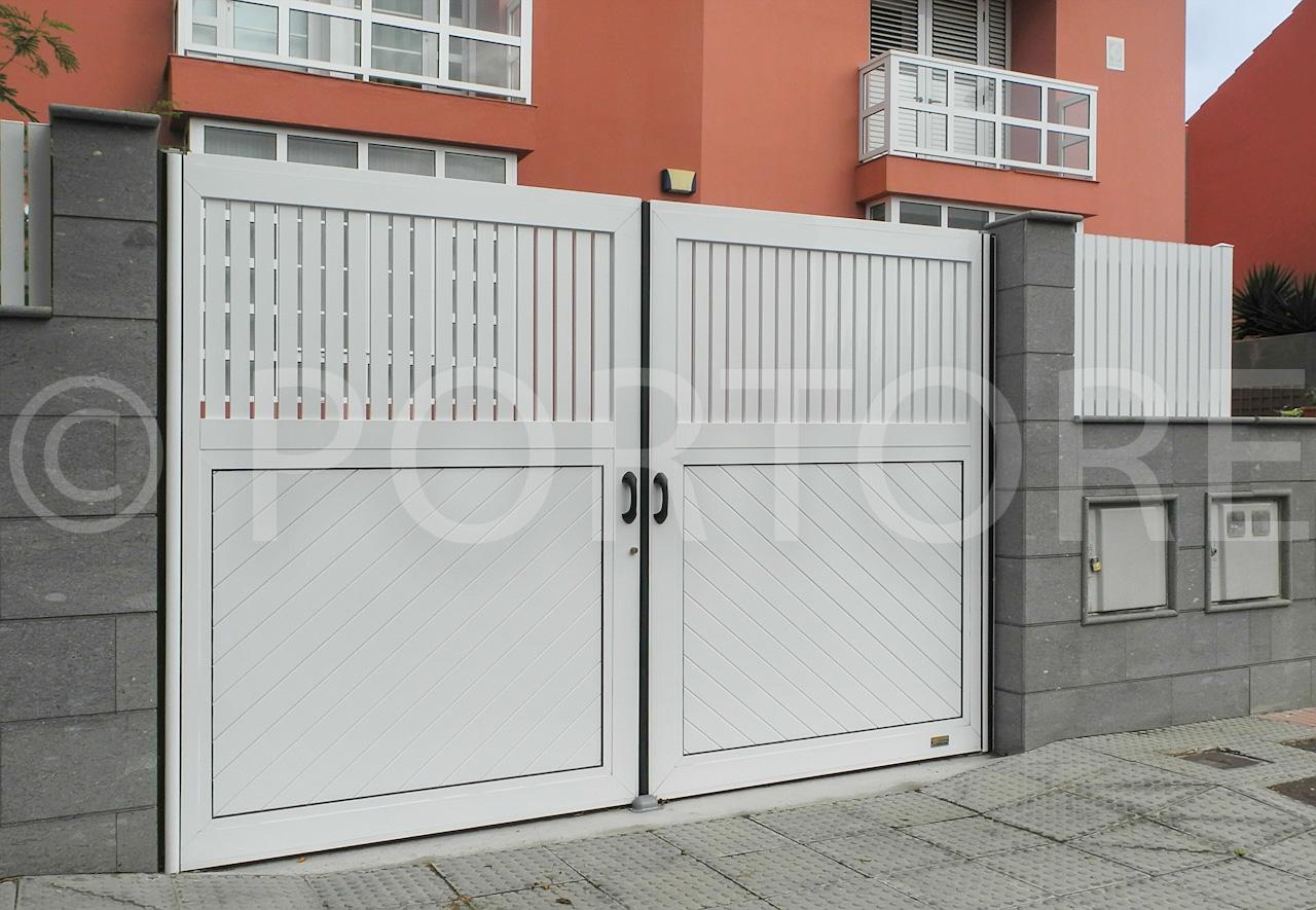 Portore s a puertas batientes de aluminio for Puerta garaje