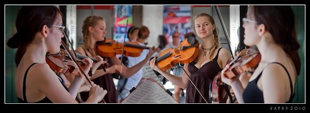 Munich: Músicos interpretando en la calle