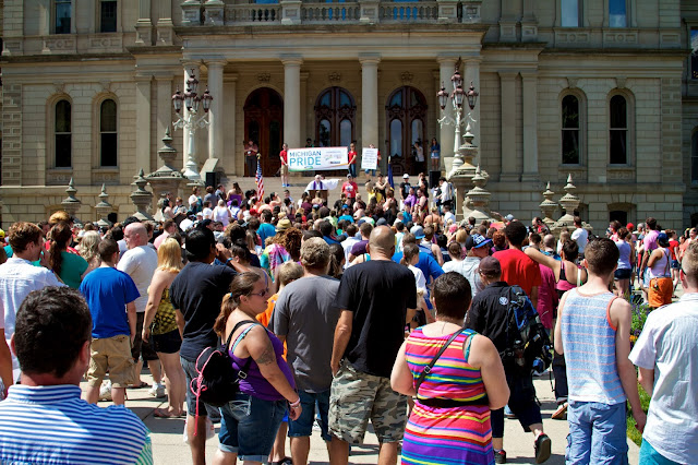 Michigan Pride Rally at the Capitol 2013, Lansing. by Tammy Sue Allen.