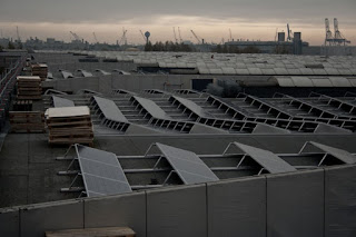 Solar Panels on Warehouse Roof in Belgium