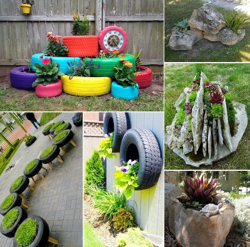 24 creative garden container ideas diy craft projects for Garden planter ideas