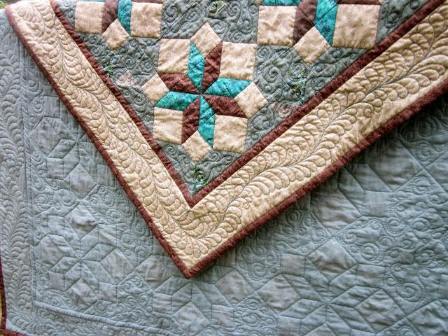 широкий кант, стеганное лоскутное одеяло