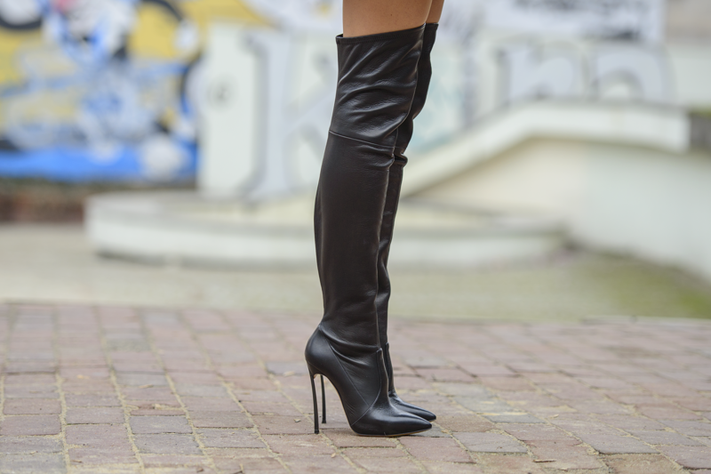 overknee casaei boots street wear