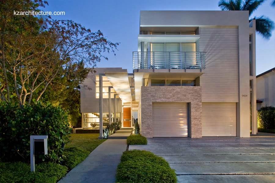 Casa residencial contemporánea blanca en Miami 2009