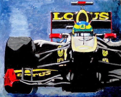 formula 1 | painting | Grosjean