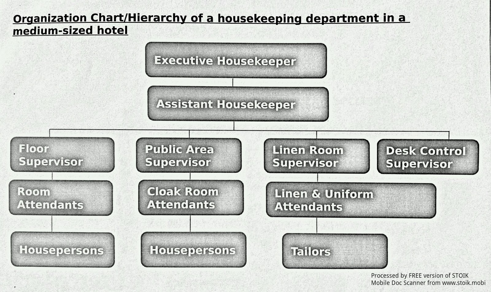 housekeeping deprtment chart picturte in hotl: House keeping notes organizational structure of h k department