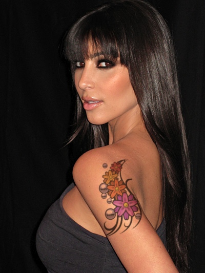 tattoo turok: Celebrity Kim Kardashian Arm Tattoo Design
