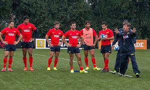 Formación de Los Pumas vs Grenoble Rugby