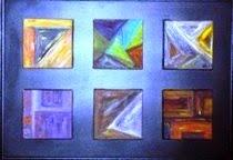 C6vendido óleo sobre tela 15x15 cada