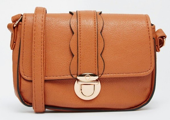 scalloped cross body bag