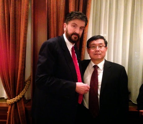 Με τον πρέσβη της Κίνας κ. Ντου Κιουίν