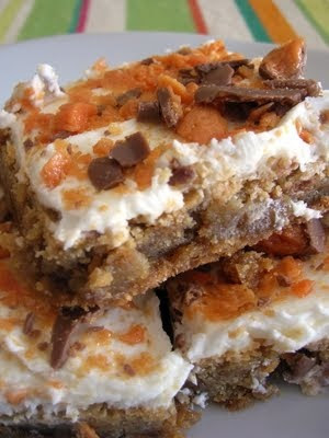 Butterfinger Blondies.....Bar cookies and Butterfinger candy bars ...