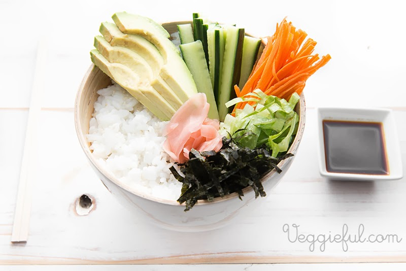 Veggieful: Vegan Sushi Bowl Recipe