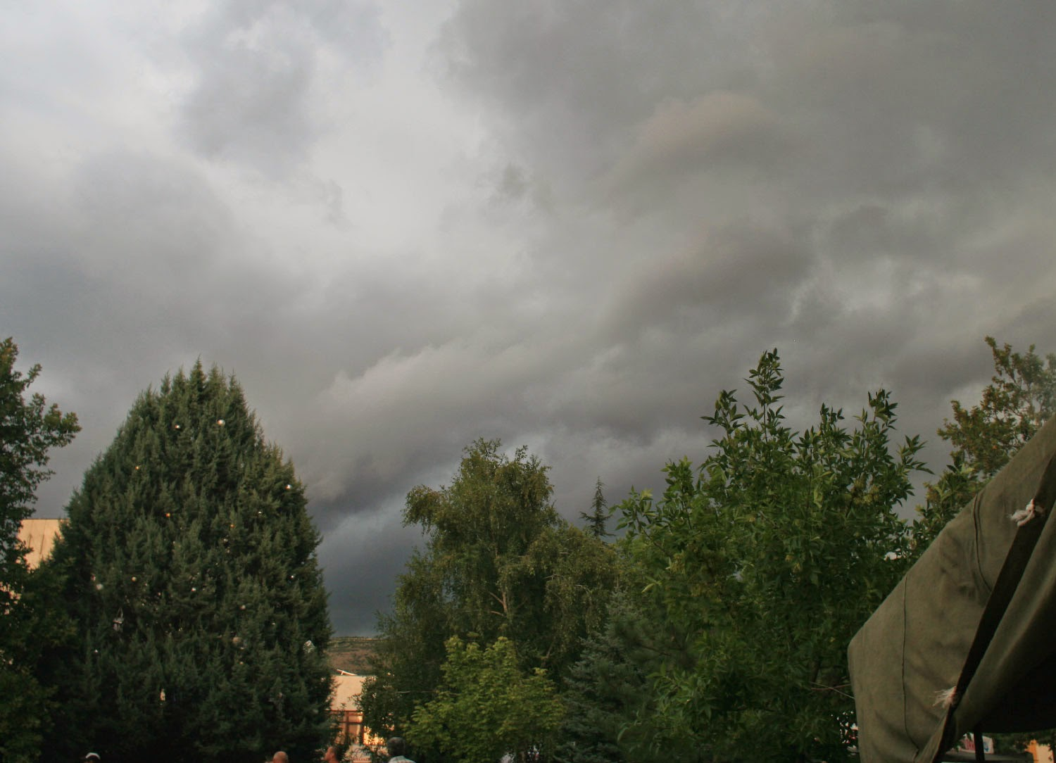 Really black clouds blowing over