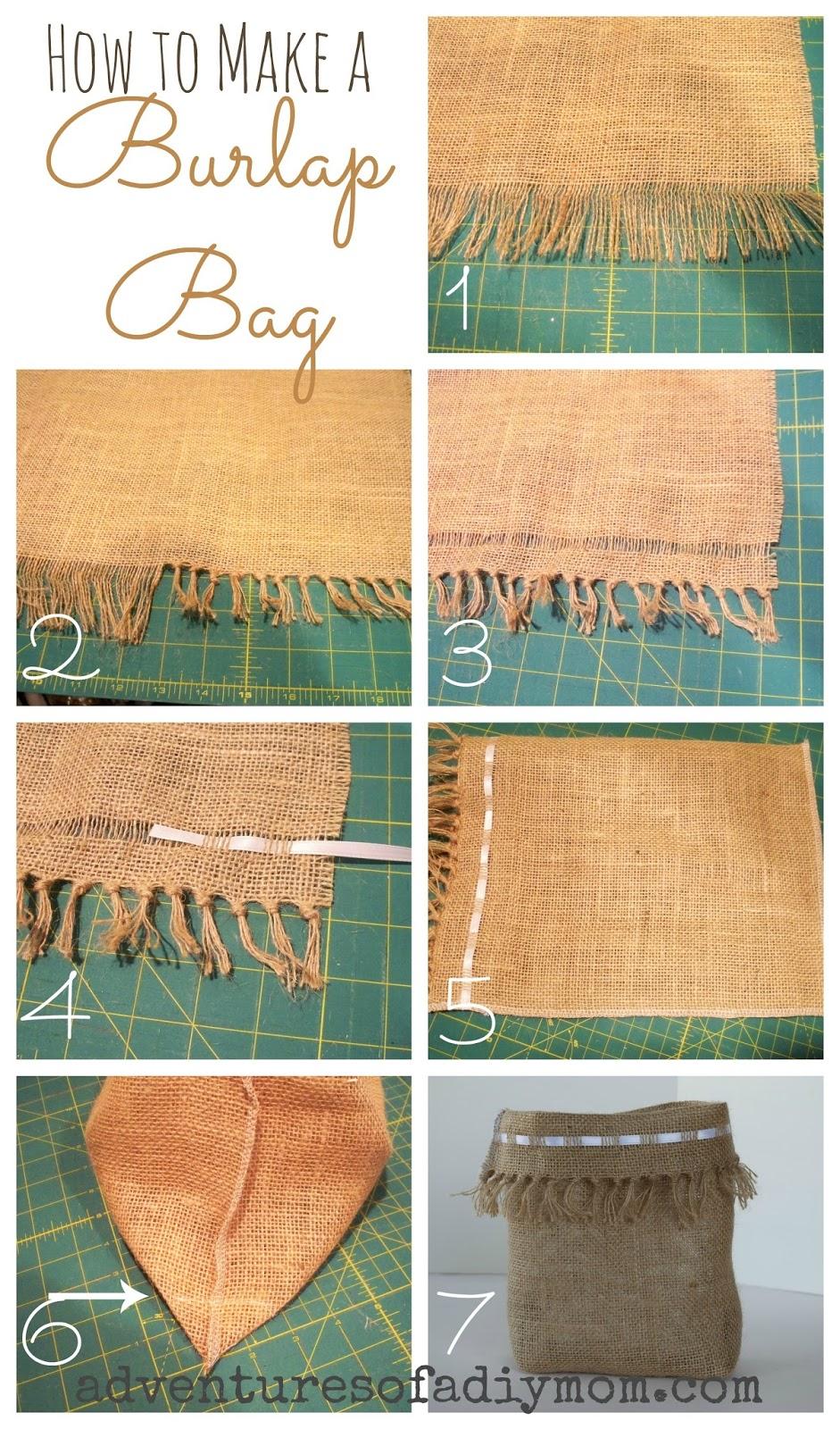 How to Make a Burlap Bag