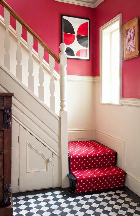 space saver stairs and red carpet runners