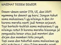 Nasihat Dosen Senior