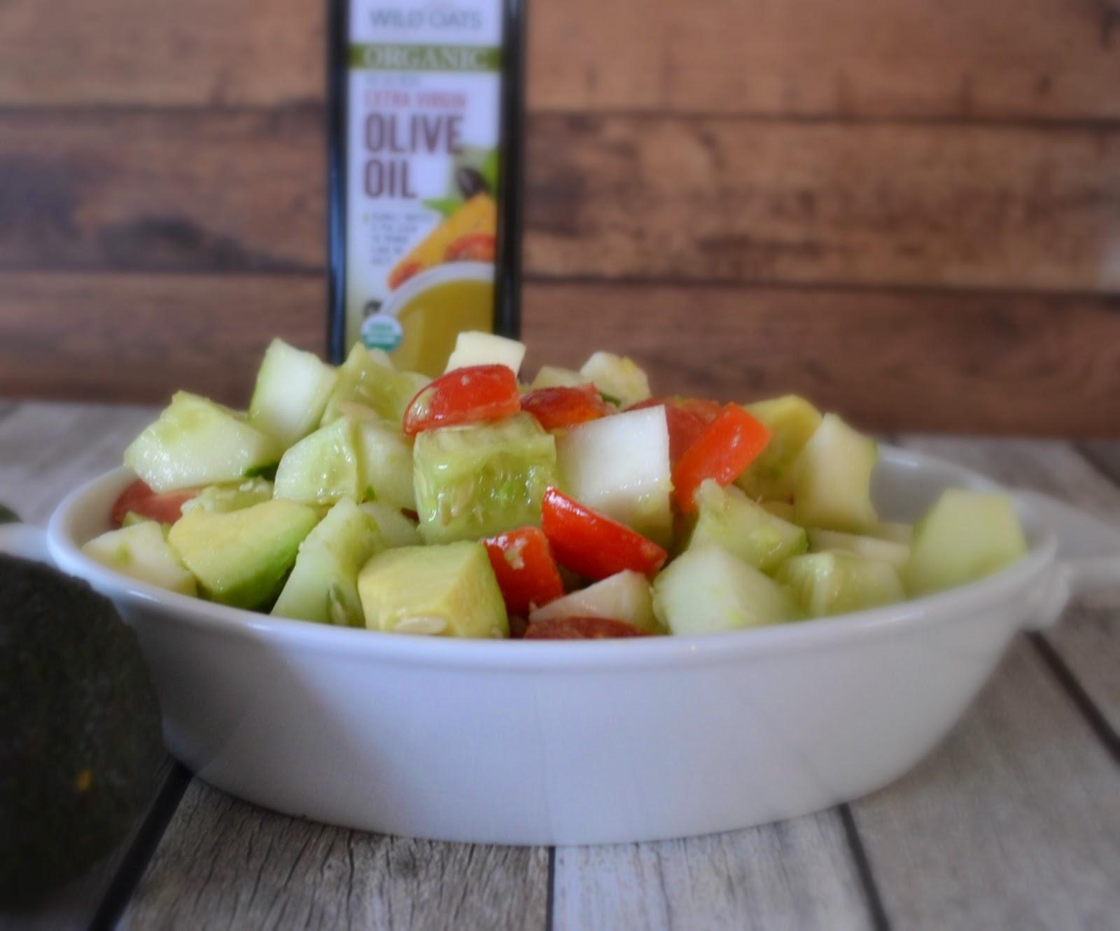 Cucumber Avocado Salad recipes.  Salad Recipes with Cucumbers.  salad recipes with Avocados.  Easy summer salad recipes.  Wild Oats Marketplace Organic products.