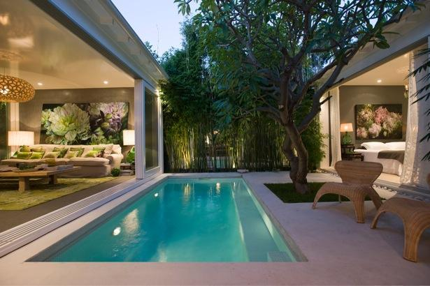 Driftwood interiors one gorgeous home three ways well for Kenny pool design