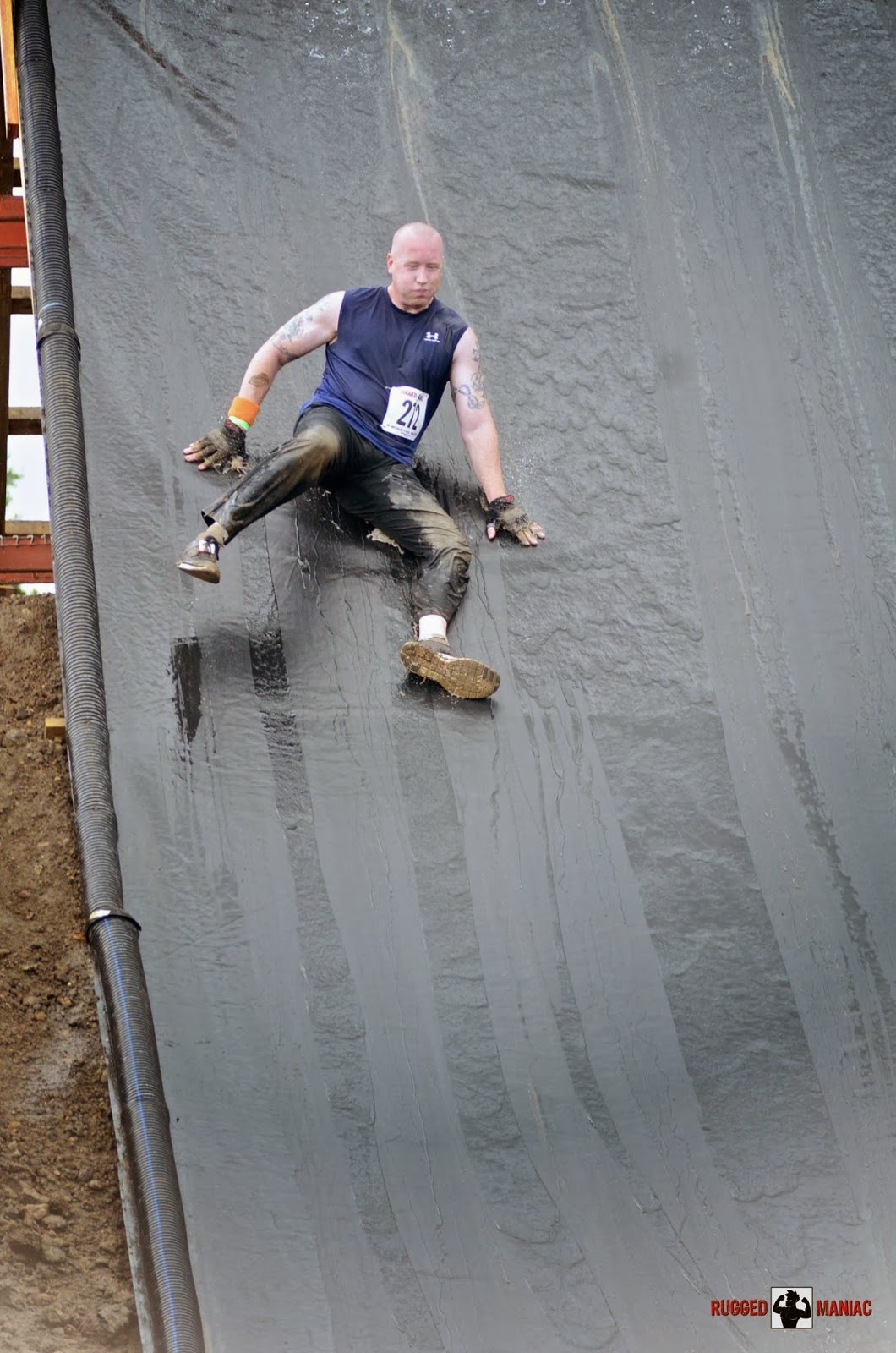 rugged maniac slide