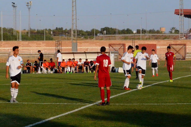 partido valencia cf juvenil a seleccion qatar sub 20 3-0