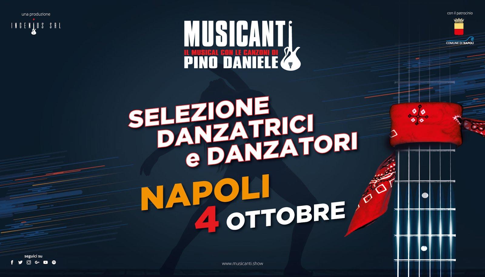 """AUDIZIONI PER BALLERINI E BALLERINE PER IL MUSICAL """"MUSICANTI"""""""