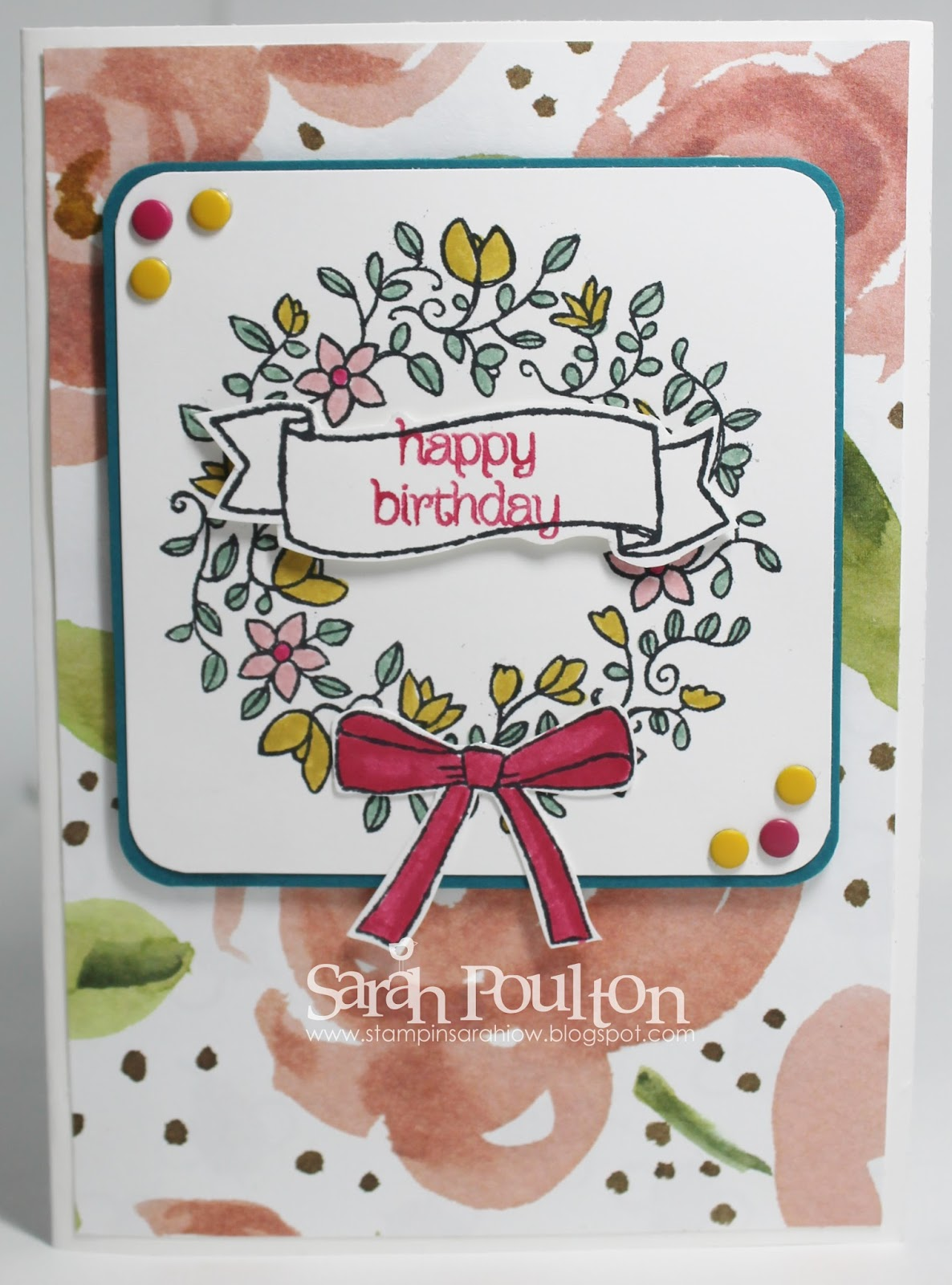 Stampin Sarah Circle Of Spring Birthday Greetings From Stampin