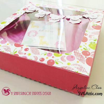 SVG Attic: Baby onesies gift box #svgattic #scrappyscrappy #giftbox #baby #onesie
