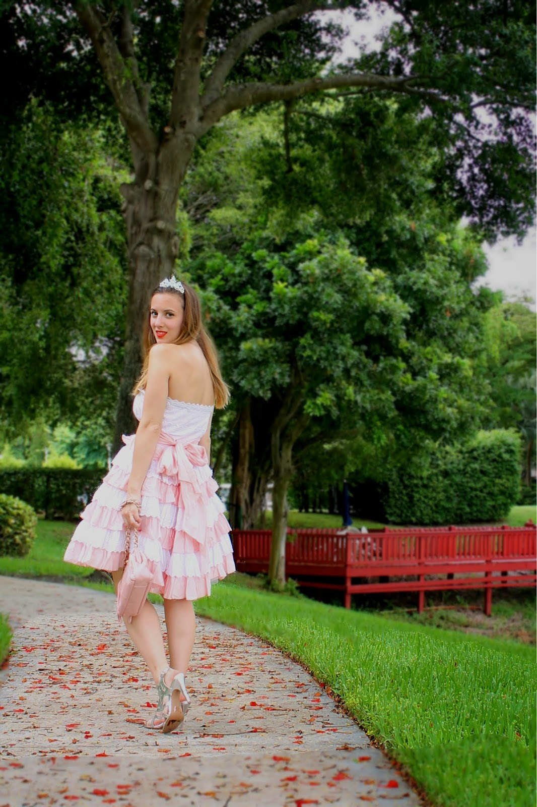 Betsey Johnson, Coach, BCBG, Claire's, Nordstrom, street style, prom fashion, prom dress, ruffles, Miami fashion blogger