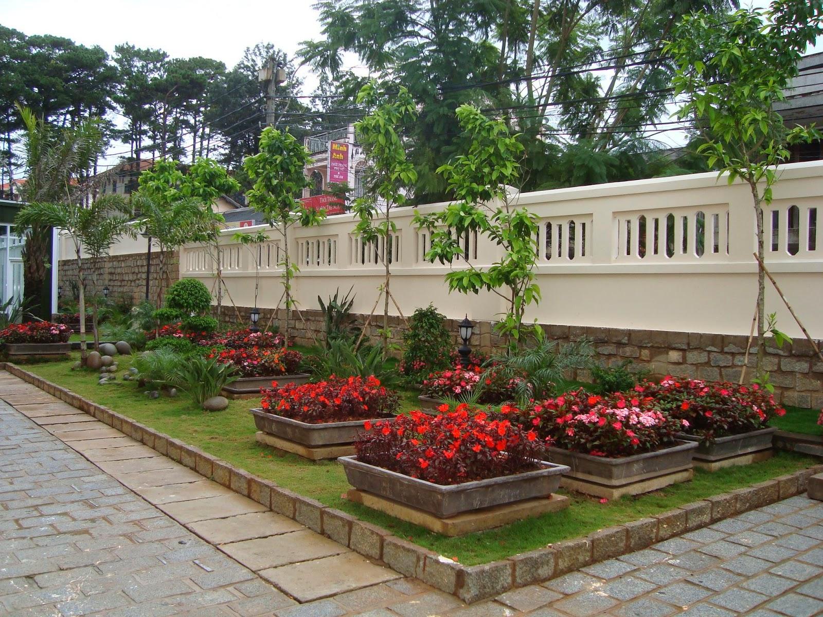 Hệ thống xử lý nước thải chìm dưới vườn hoa