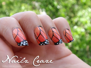 Butterfly wings stamping plate - Nailz Craze