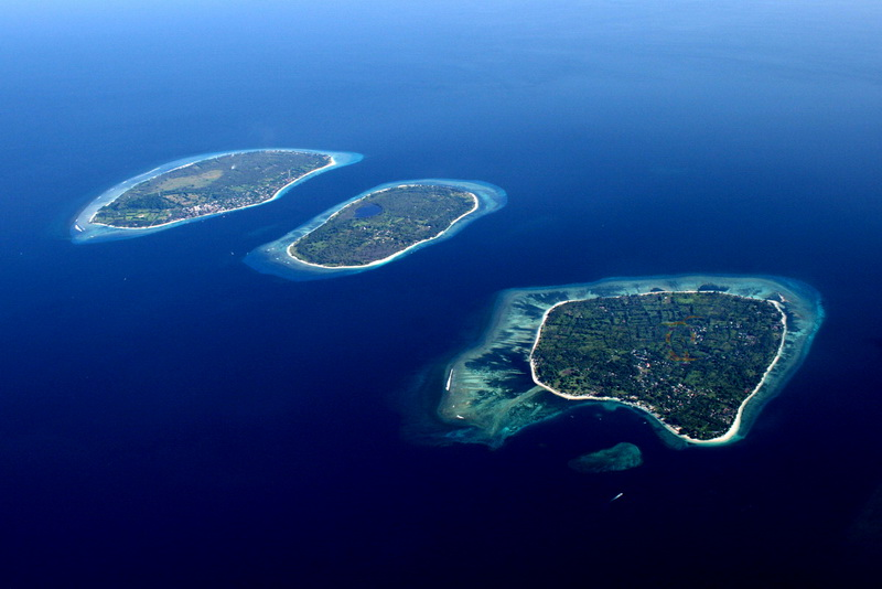 three gili on lombok island