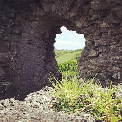 Medieval fortress ruins, Ireland. Photo by Elena Rosenberg.