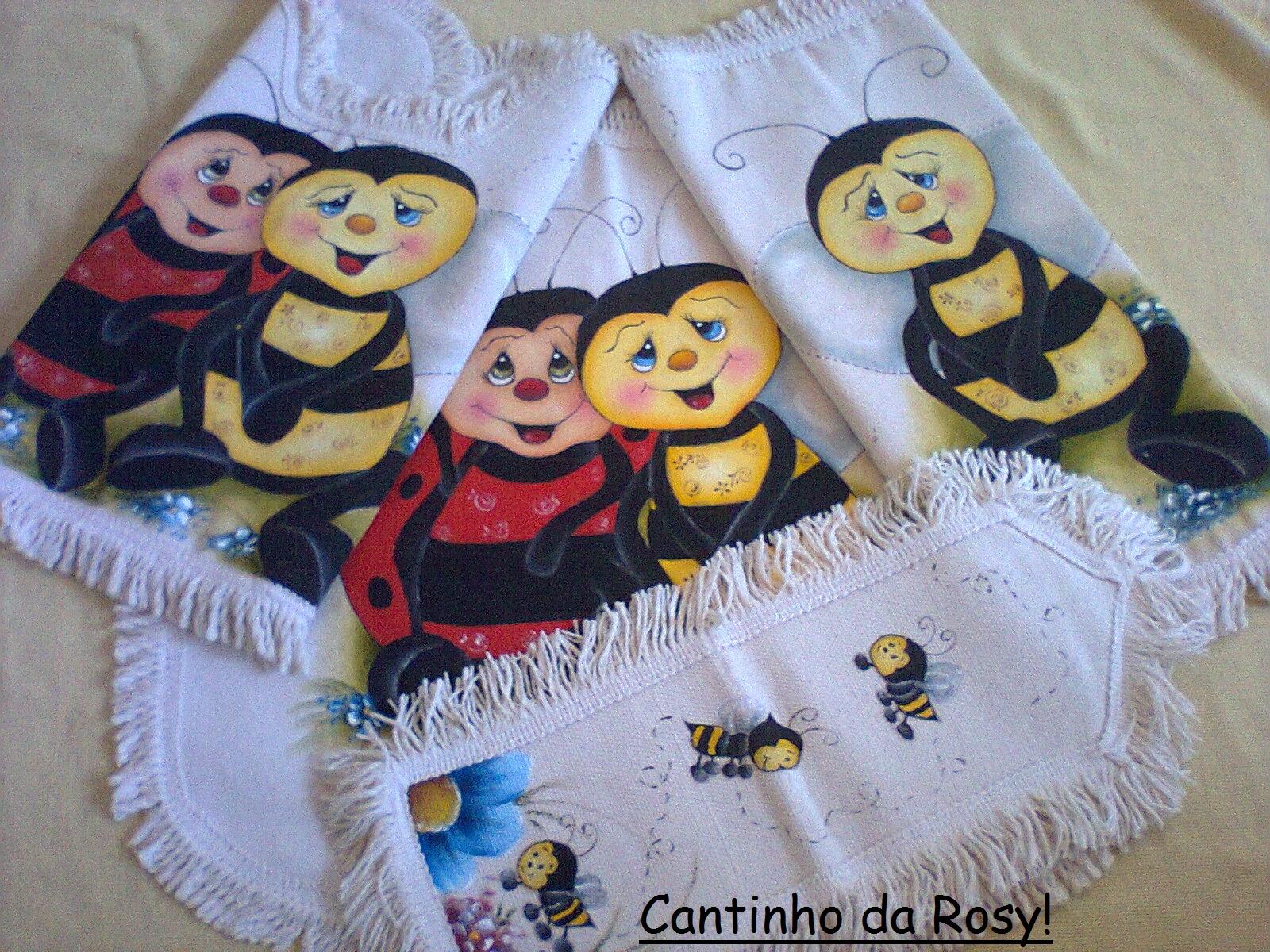 Cantinho da Rosyane: Conjunto de banheiro! .(pintura em tecido)♥ #9A7A31 1600 1200