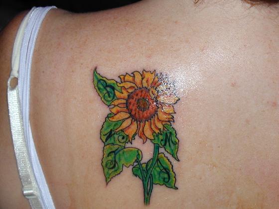 tattoos designs sunflower