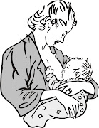 Myself is a fan supporter of breastfeeding to newborn as much possible since . (cartoon baby being breastfed )