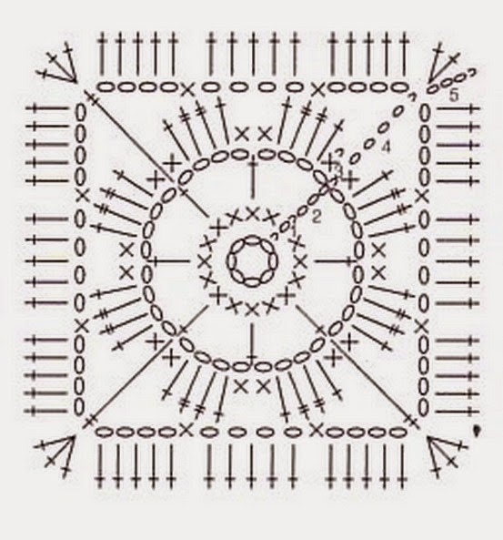 Простые схемы вязания крючком квадраты