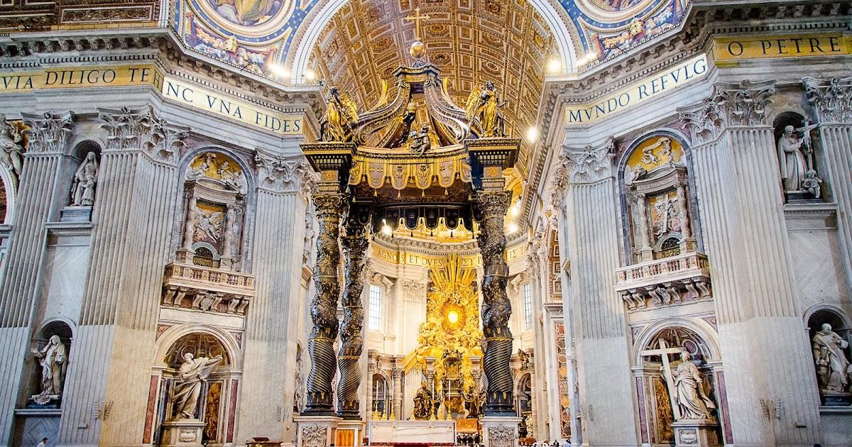 Interior of the Basilica...
