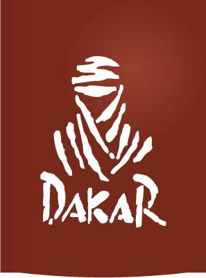 Logo del Rally Dakar rojo - Vector