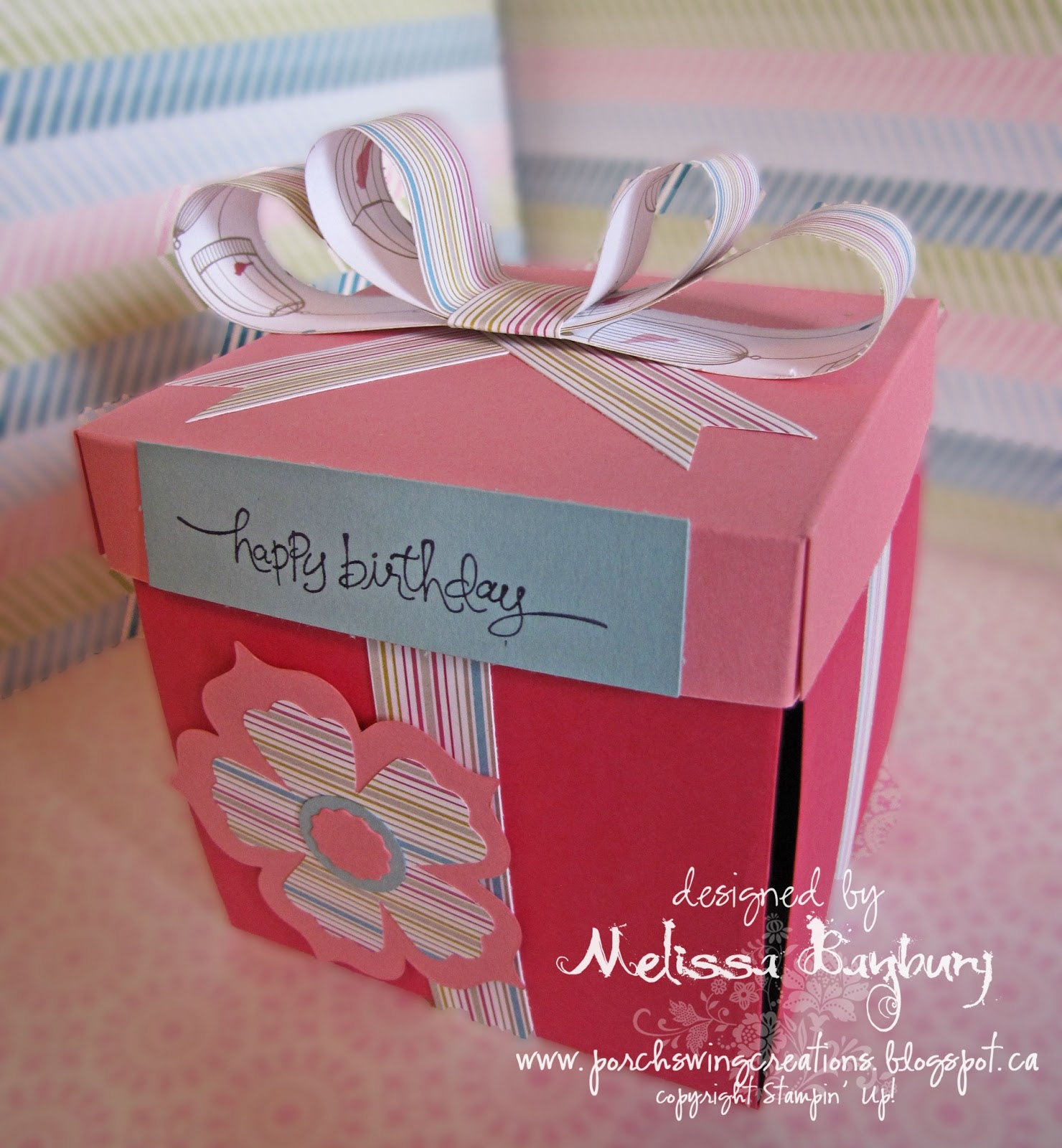 Porch Swing Creations: Birthday Box Fit for a Princess