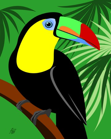 Digital Toucan Art