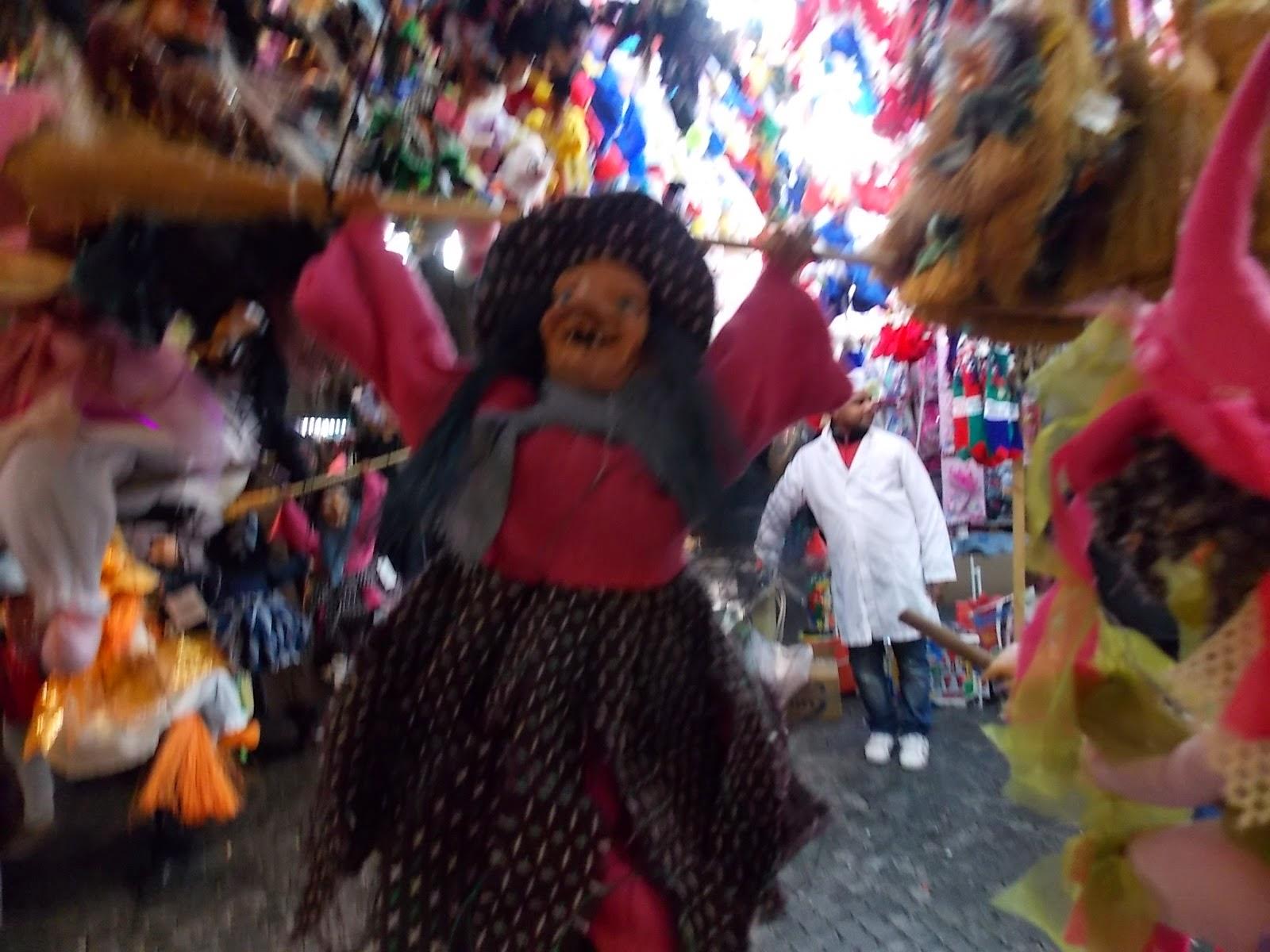the xmas market in rome sells befana dolls - Italian Christmas Witch