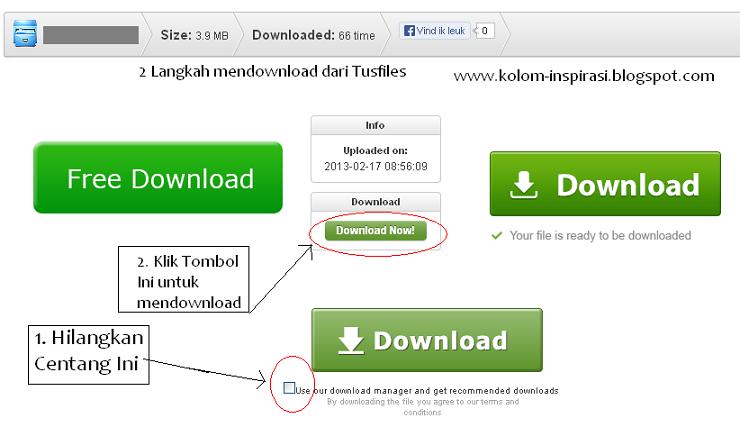Cara Download di Tusfiles Terbaru