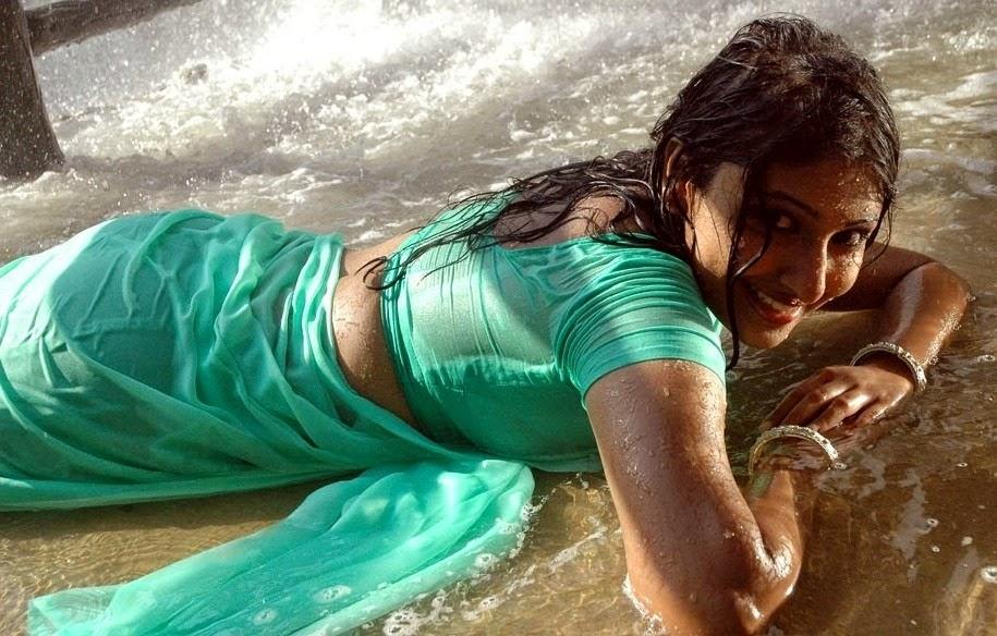 Tamil Actress Monica in wet saree hot pics