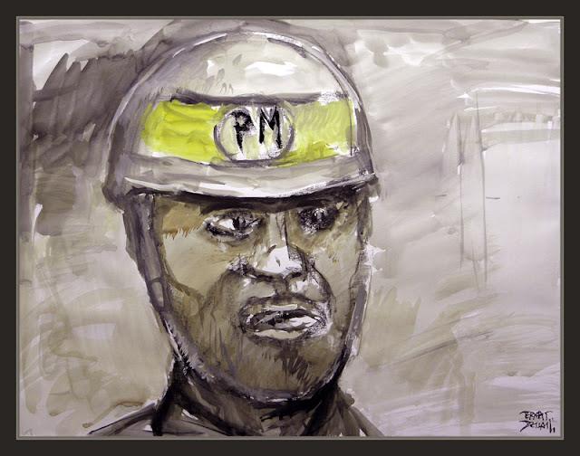 POLICIA MILITAR-MILI-SERVICIO MILITAR-ESPAÑA-CORDOBA-PINTURA-RETRATOS-PINTOR-ERNEST DESCALS-